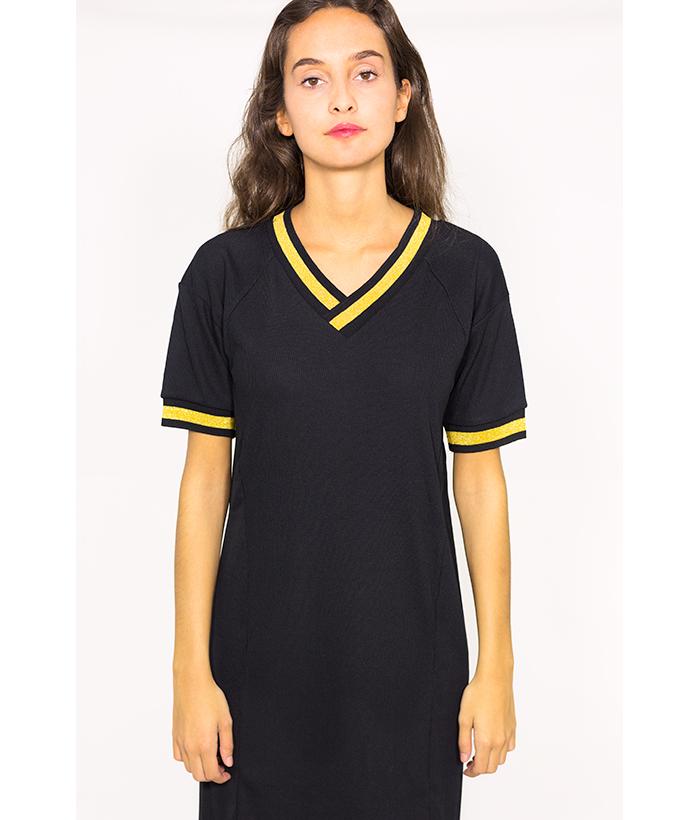 Vestido estilo deportivo de canalé – NÜMPH – MODA de mujer LAMOI