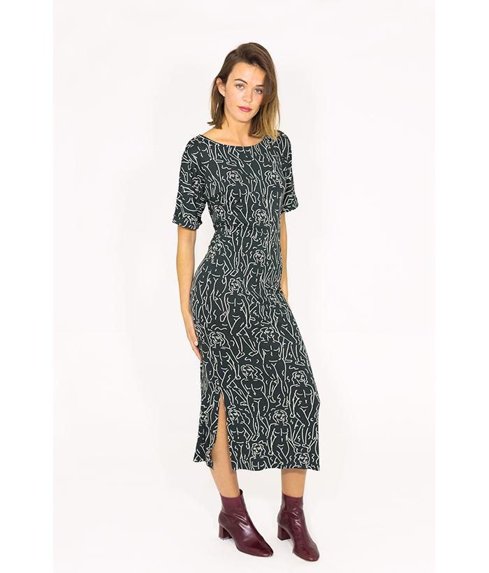 Vestido elástico con estampado – NÜMPH – MODA femenina en LAMOI