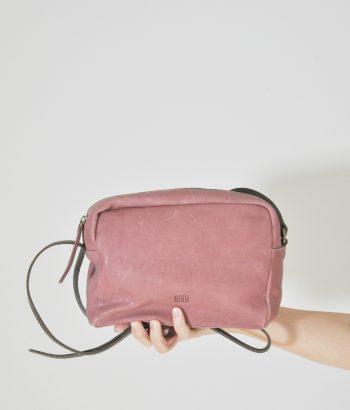 bolso piel rosa BIBA
