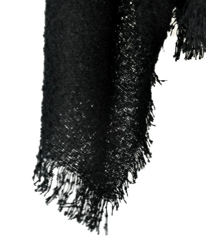 Cálida bufanda negro ICHI