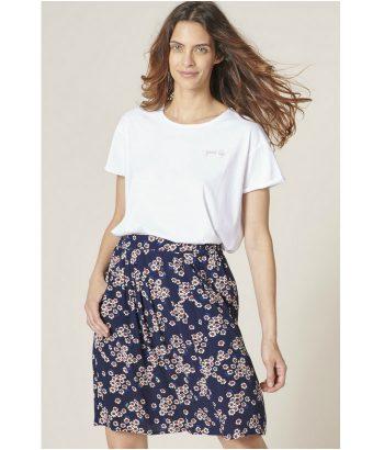 Falda de estampado floral