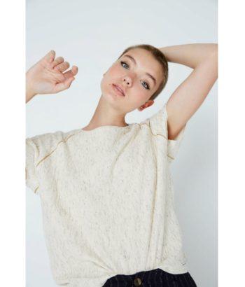 camiseta_algodón_color_crudo_con_textura_Ropa_Chica