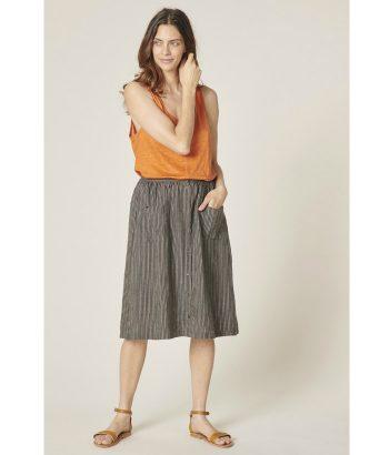 falda-midi-rayitas-multicolor-de-Harris-Wilson