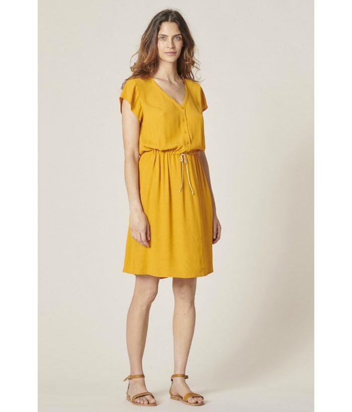 vestido_amarillo_mostaza_de_Harris_Wilson