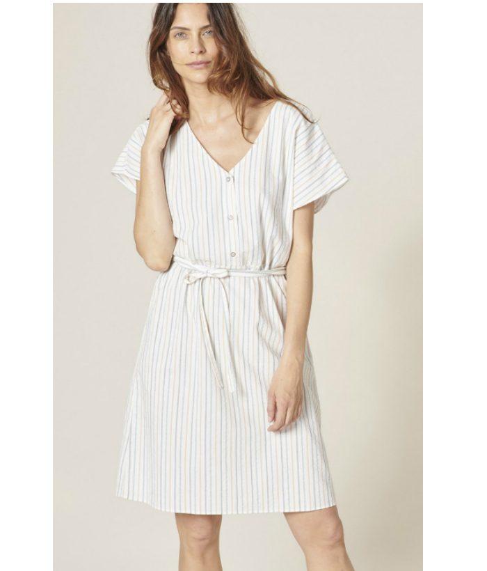 vestido-blanco-con-rayas-multicolor