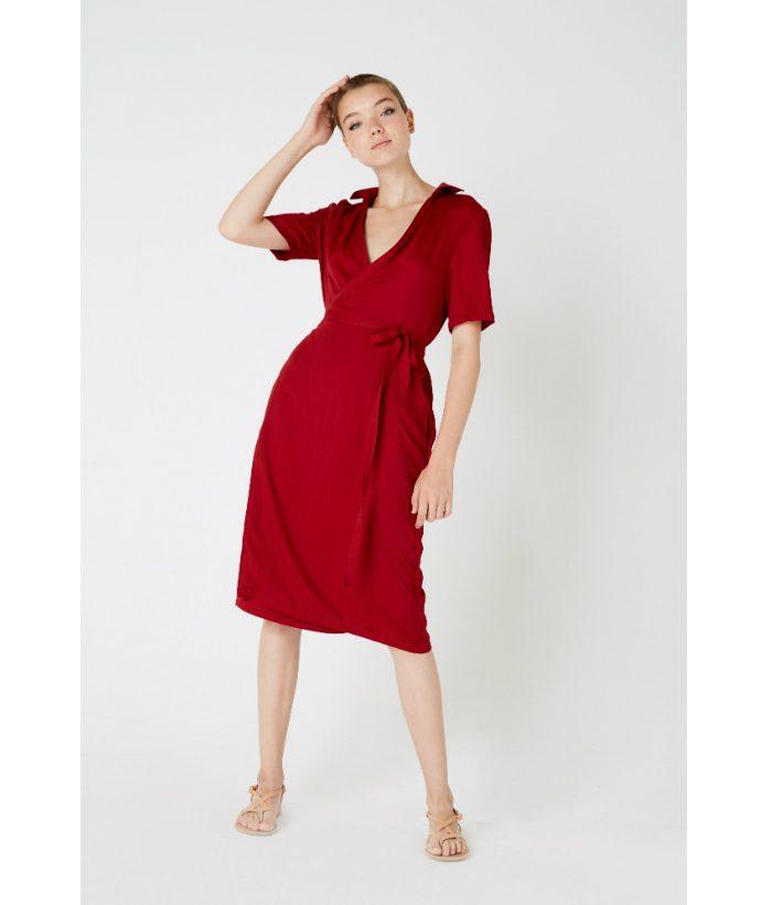 vestido-cruzado-rojo-cereza-de-Ropa-Chica