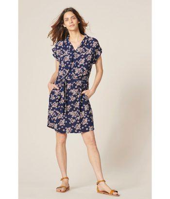 vestido-azul-marino-estampado-margaritas-Harris-Wilson