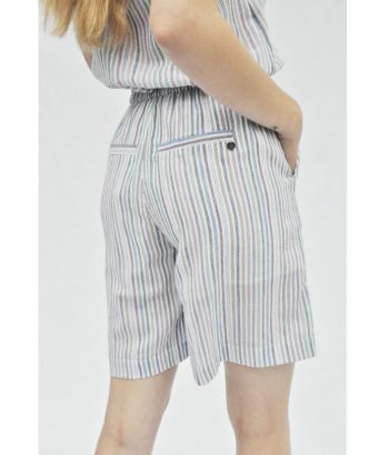 bermuda de rayas cintura elástica