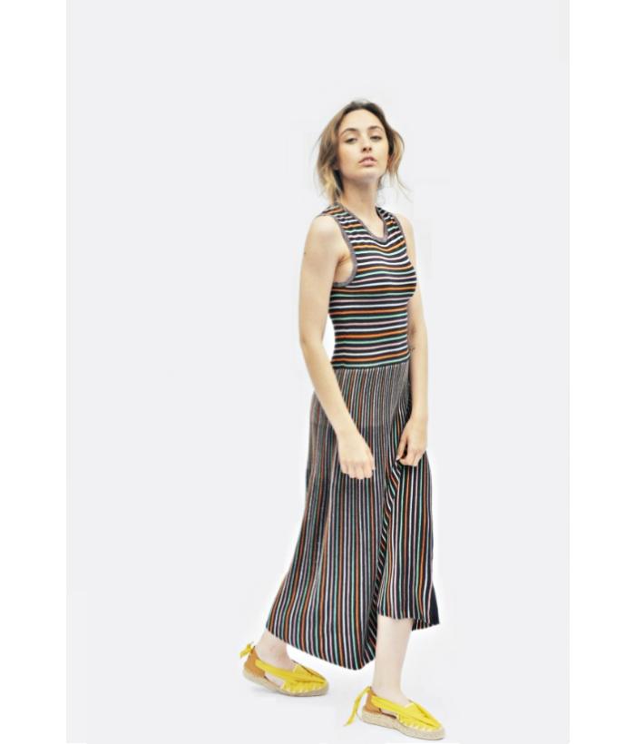 vestido rayas brillo