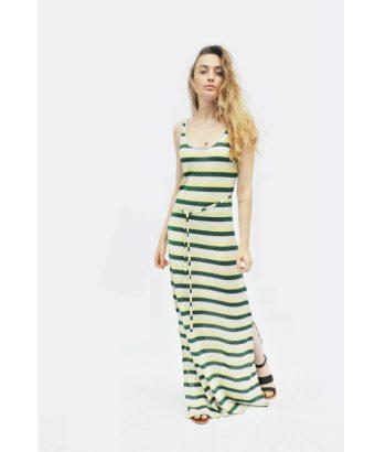 vestido de brillo verde y amarillo