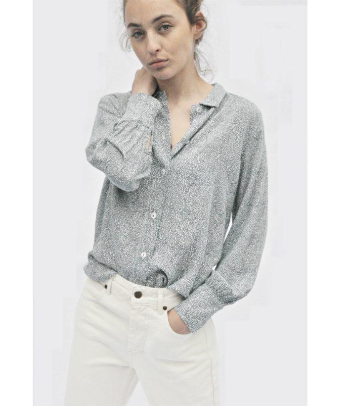 blusa manga larga motas azules