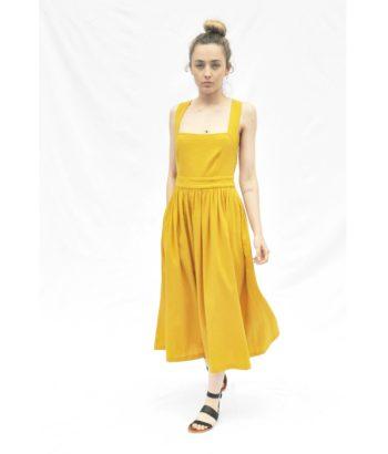 vestido amarillo de tirantes