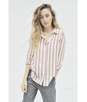 camisa rayas manga larga