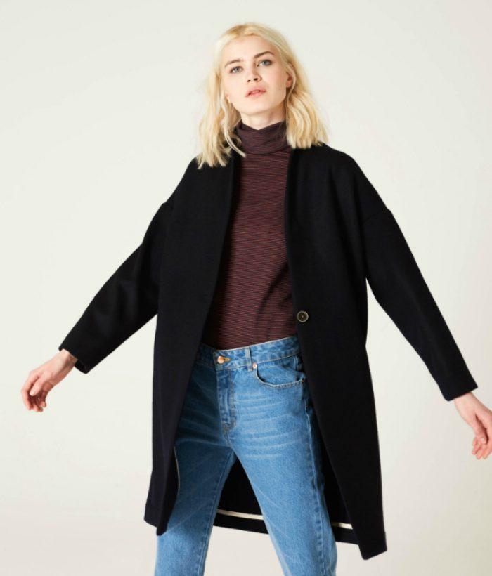 abrigo azul de ropa chica