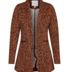 blazer color teja con estampado print