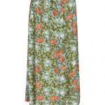 falda larga de flores verde y nude