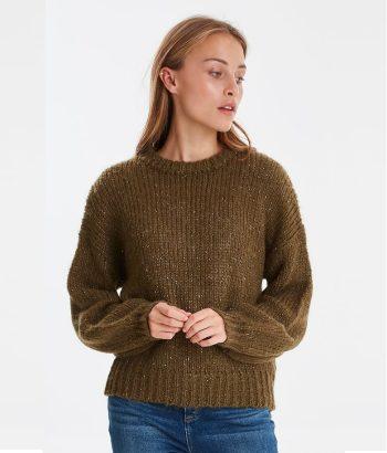jersey verde de lana
