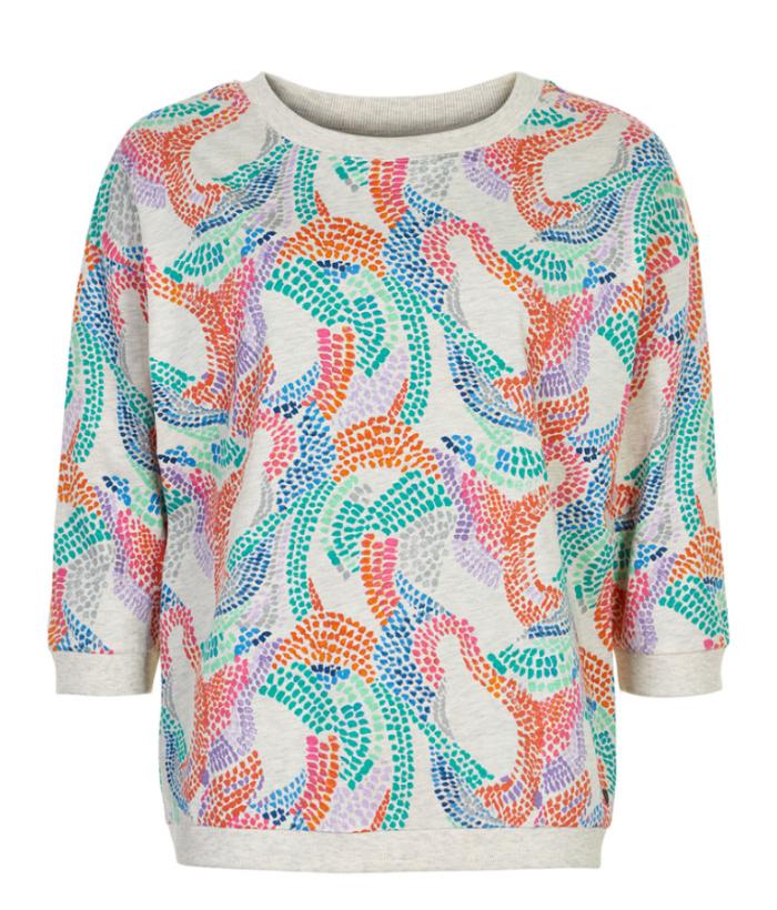 camisa algodón de estampado de colores