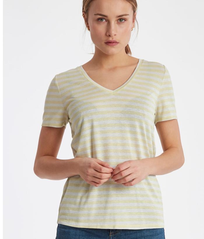 camiseta rayas marinera amarillas