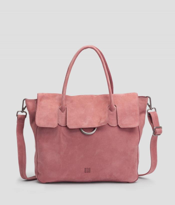 bolso rosa piel