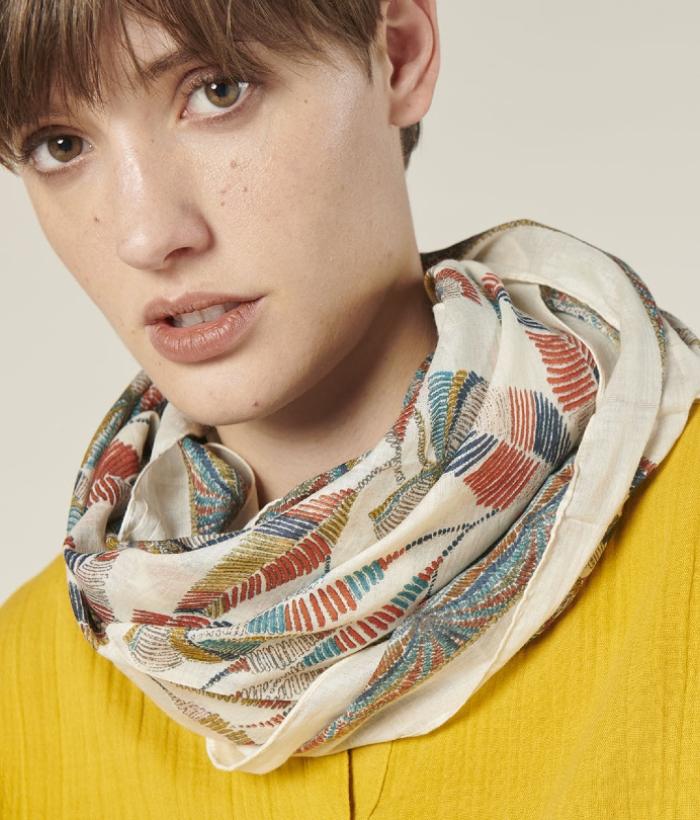foulard de espigas