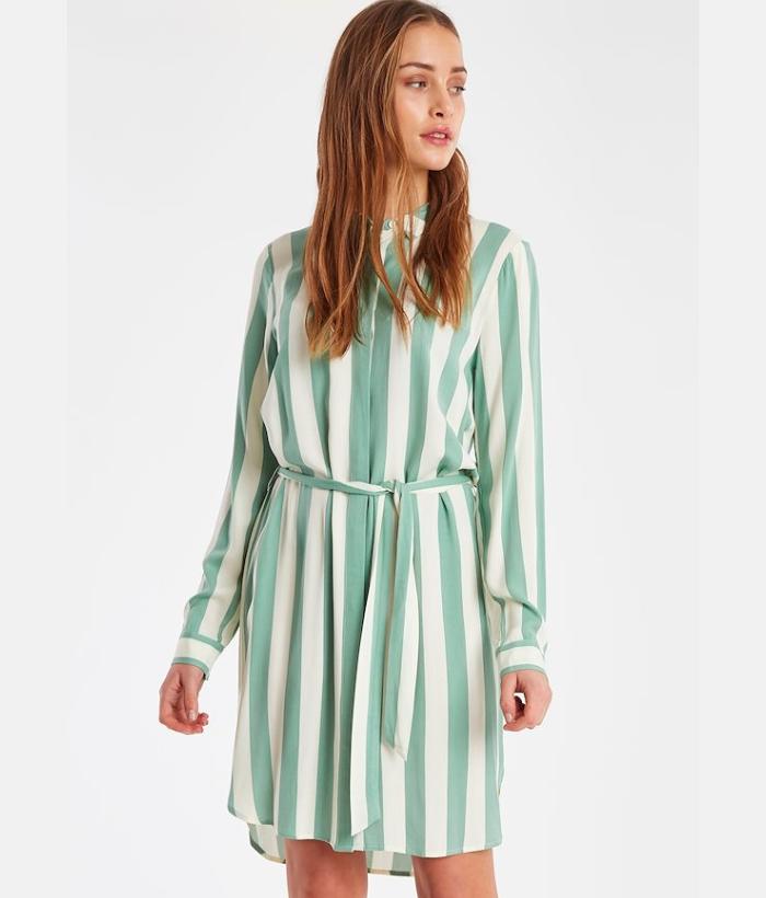 vestido rayas verde de ICHI