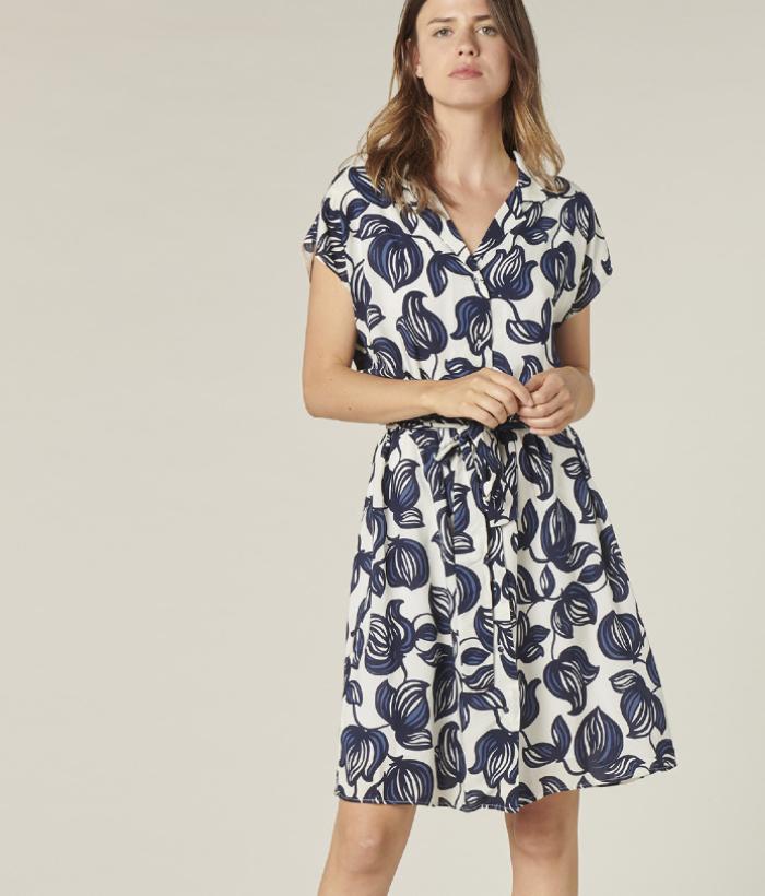 vestido flores de Harris Wilson