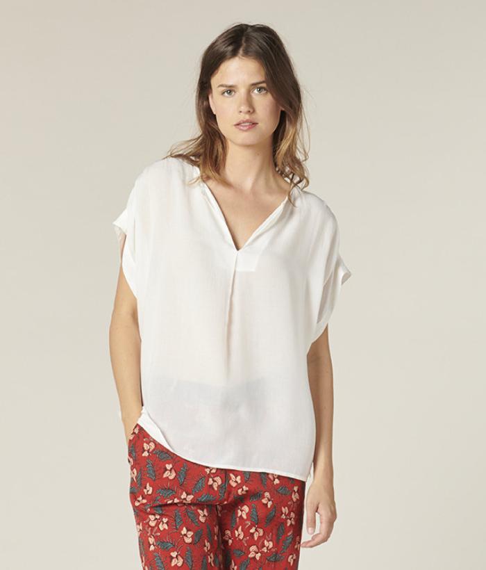 blusa blanca Harris Wilson (1)