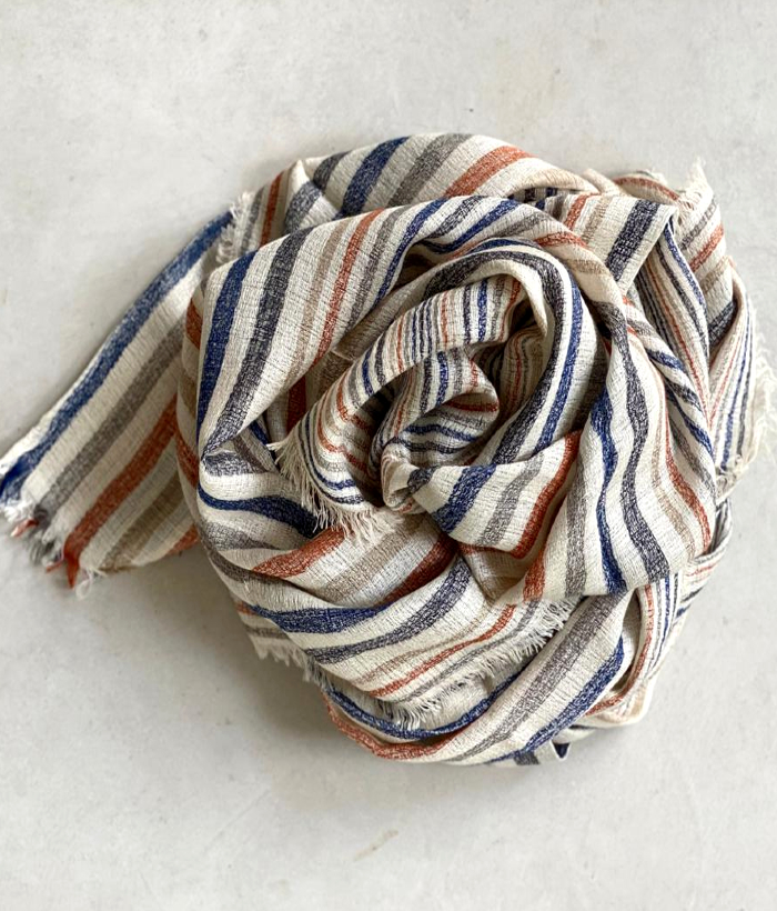 foulard rayas arenas