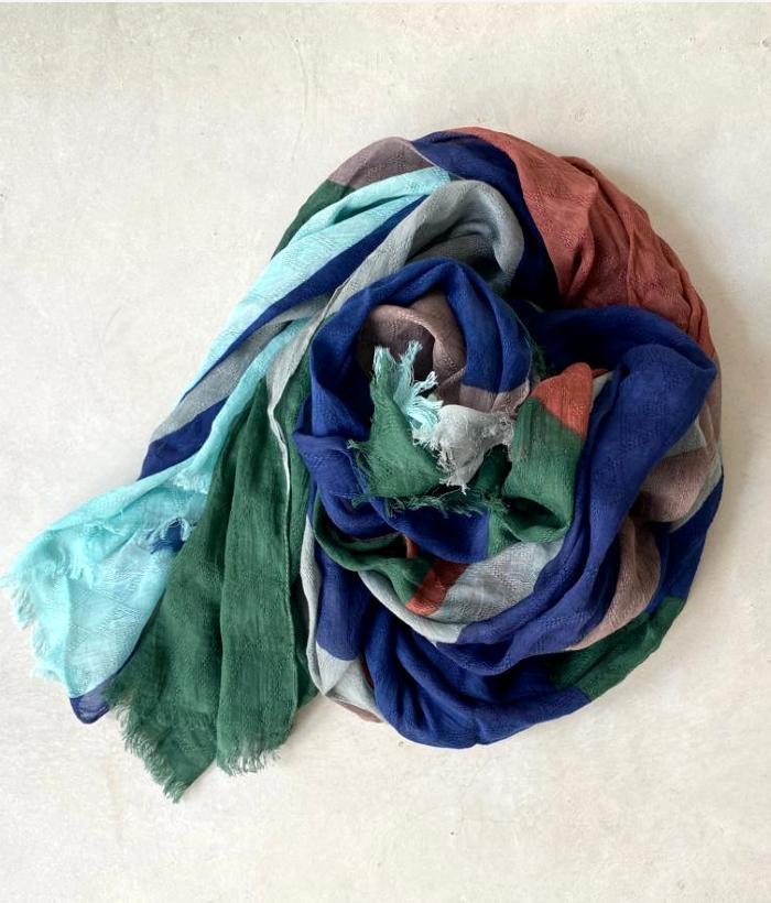 foulard de algodón con múltiples colores