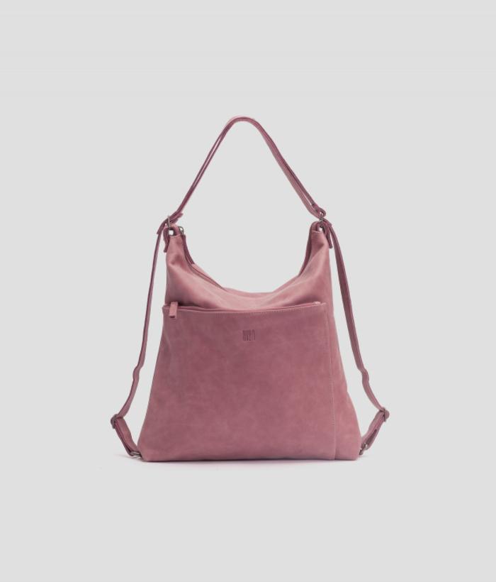 mochila rosa piel de BIBA