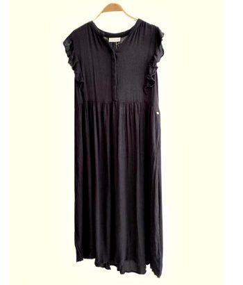 vestido gris oscuro largo de Harris wilson