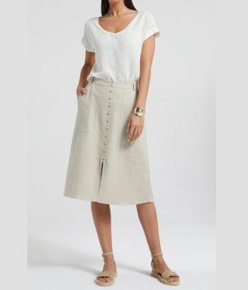 falda sahariana de botones
