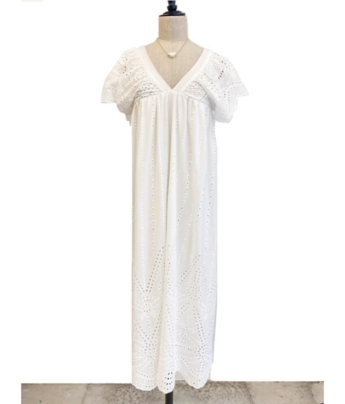Vestido largo ibicenco color blanco