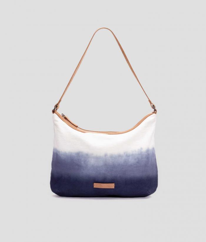 bolso azul degradado de algodón