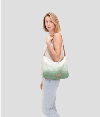 bolso verde degradado de algodón