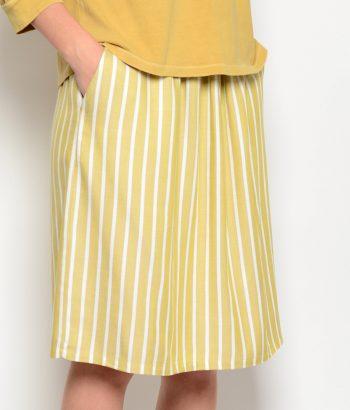 falda de rayas amarillas pistacho