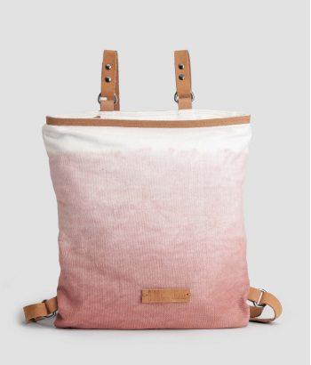 mochila rosa de algodón color degradado