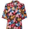camisa de flores con manga corta