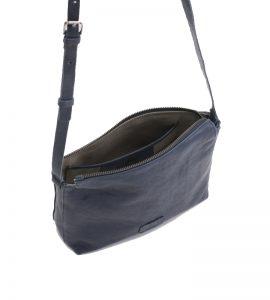 bolso bandolera de piel azul de BIBA