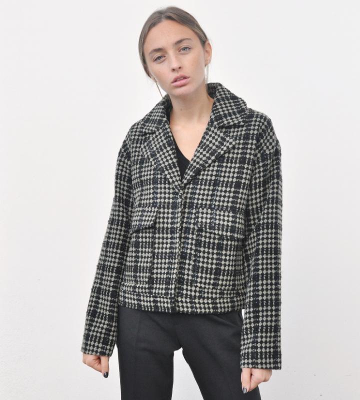 chaqueta de cuadros de ICHI