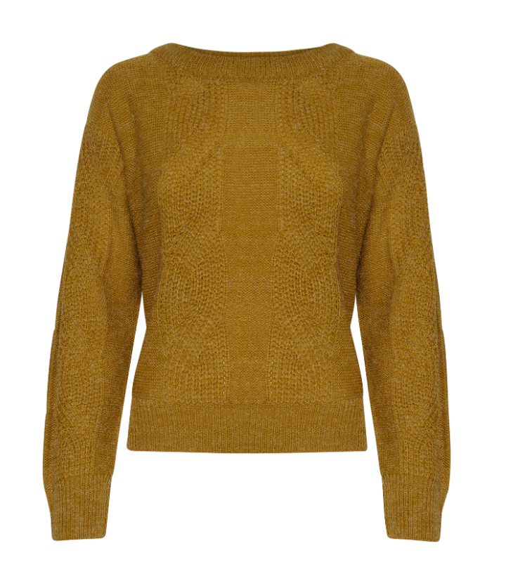 jersey de punto color miel, Bronze mist