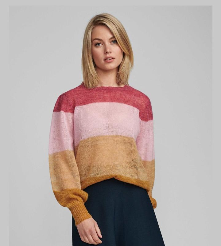 jersey de rayas y punto ligero