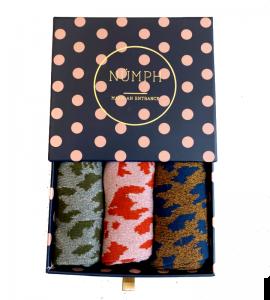 calcetines brillo con estampado print