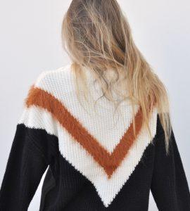 Jersey de cuello alto con estampado de pico de Nümp