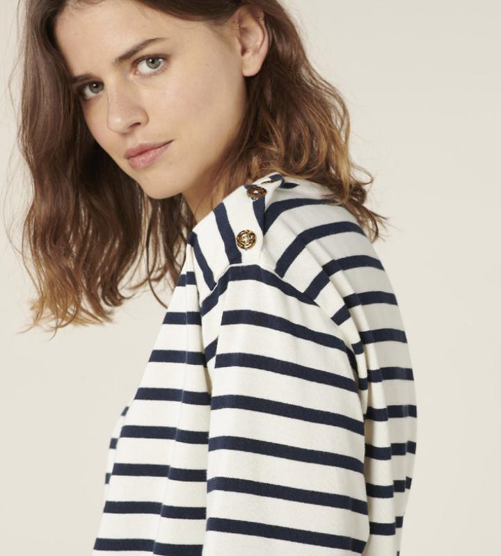 camisa de rayas marineras