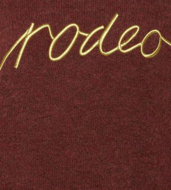 jersey granate de alpaca con letras de ICHI