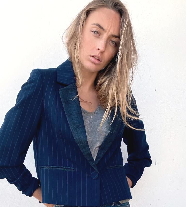 blazer azul de ryas