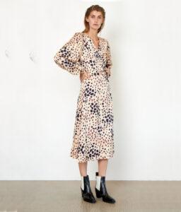 vestido midi print de Second Female