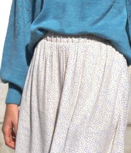 falda lunares con bolsillos